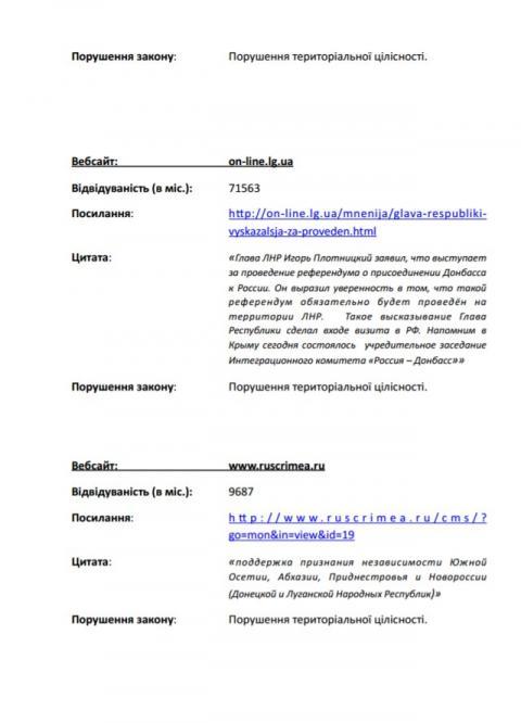 Опубліковано перелік сайтів, що порушують норми українського законодавства (ФОТО)