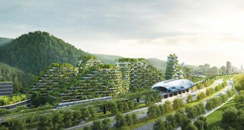 У шумному Китаї збудують екологічне місто (ФОТО)