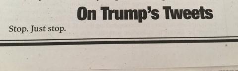 Американське видання присвятило Трампу статтю лише з трьох слів (ФОТО)