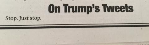 У New York Post вийшла найменша стаття про Дональда Трампа в історії (ФОТО)