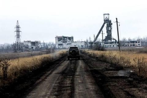 Біля Донецька сили АТО знищили російський танк (ВІДЕО)
