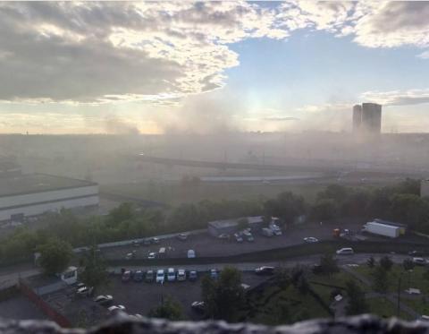 В Москві палає торгівельний центр (ФОТО)