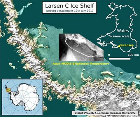 Від Антарктиди відколовся айсберг розміром з половину Закарпаття