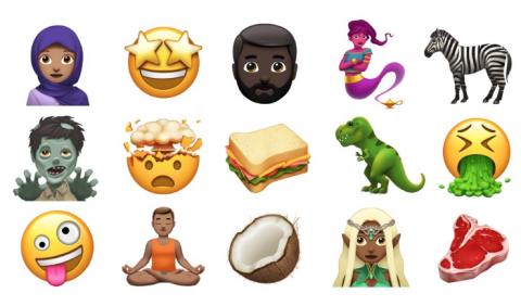Apple представила нові смайлики, які з'являться в iOS 11