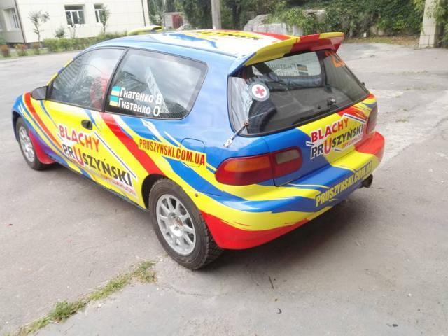 Ралі «Львівський Стандарт». Брати Гнатенки «засвітили» оновлений Honda Civic (ФОТО)