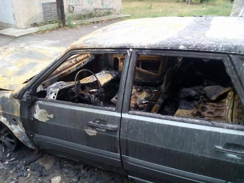 Законослухняному журналісту підпалили автомобіль (ФОТО)