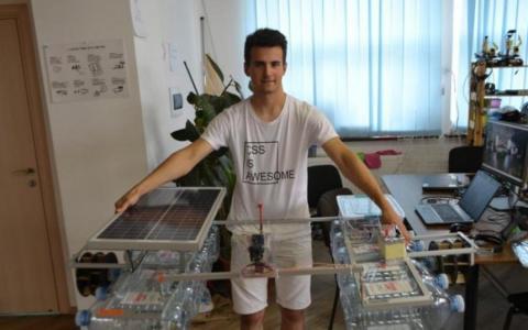 Український винахідник: школяр створив пристрій для очищення водойм (ВІДЕО)