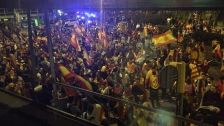 Троє людей поранено на демонстрації противників незалежності в Барселоні