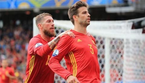 Гравці збірної Іспанії Піке і Рамос посварилися на тренуванні через референдум в Каталонії