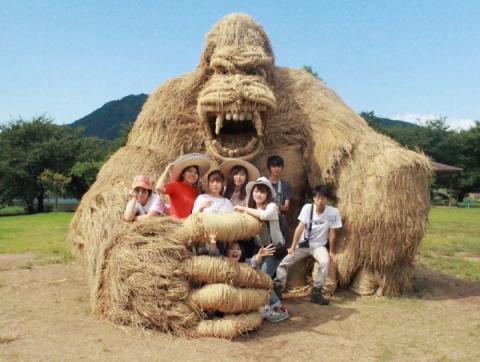 В Японії в окрузі Ніігата святкують збір урожаю, створюючи звірів-гігантів з рисової соломи