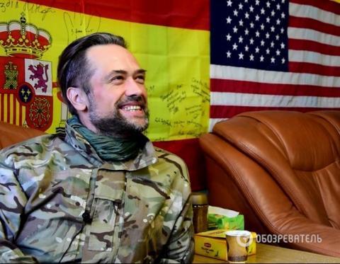 Російський актор Пашинін, що воює в АТО, висунув незвичайну пропозицію українцям