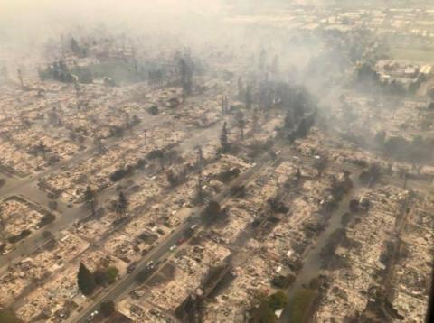 У Каліфорнії вирують лісові пожежі: загинуло не менше 10 осіб