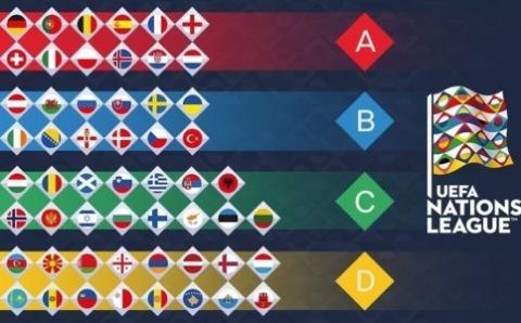 Збірна України з футболу потрапила до групи «В» Ліги Націй УЄФА
