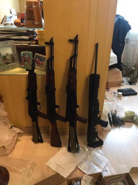 СБУ: У Києві вилучили арсенал зброї та боєприпасів