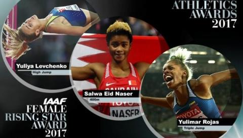 Юлія Левченко – серед трьох претенденток на титул «Висхідна зірка» світової легкої атлетики