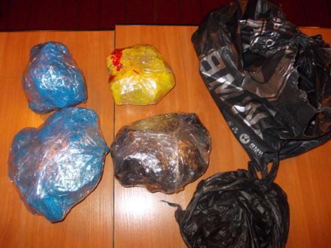У Рівненській області поліцейські вилучили більше 9 кг бурштину