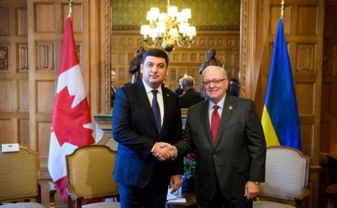 Володимир Гройсман: Ми високо цінуємо політику Канади з підтримки територіальної цілісності України та запровадження санкцій проти країни-агресора