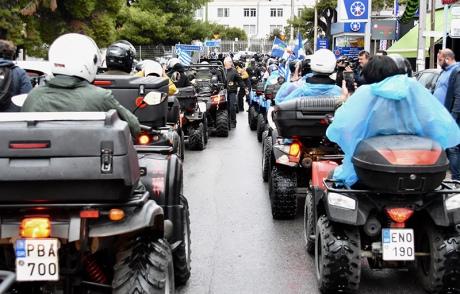 В Афінах власники квадроциклів заблокували Мінтранс на знак протесту