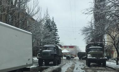ОБСЄ повідомила про військові КамАЗи бойовиків в Луганську: фото