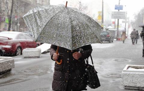 Погода на сьогодні: в Україні дощі з мокрим снігом, температура до +10