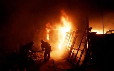 Пожежа у санаторії в Одесі: евакуйовано мешканців навколишніх будинків