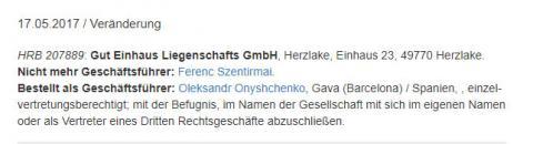 В Німеччині вважають, що Онищенко живе в Іспанії
