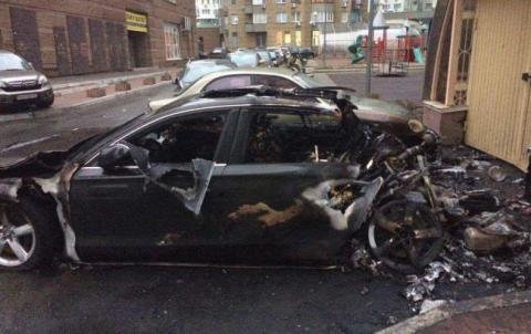 Екс-міністр Пивоварський підтвердив, що в Києві згоріла машина його водія