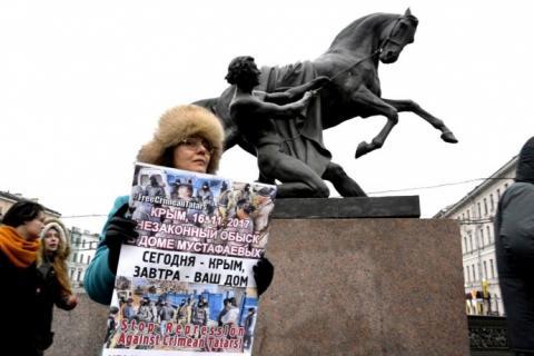 У Петербурзі пройшли пікети на підтримку кримських татар
