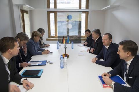 Президент України провів зустріч із Канцлером Німеччини