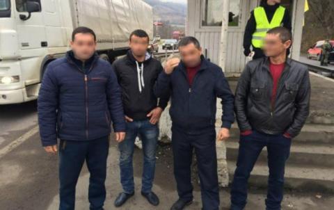 У Закарпатській області затримали чотирьох нелегалів