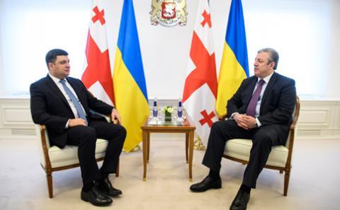 Україна та Грузія поглиблюють співпрацю в різних сферах задля посилення можливостей та міжнародних позицій двох країн, - зустріч глав урядів двох держав
