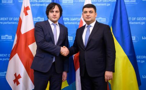 Україна і Грузія мають використовувати міжнародні майданчики для захисту спільних інтересів та протидії російській агресії, - Голова Парламенту Грузії на зустрічі з Прем'єр-міністром України