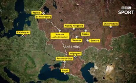 BBC в анонсі міст ЧС-2018 вказав Крим частиною РФ, відео незабаром видалили