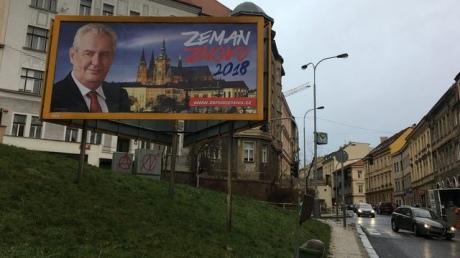 Президент Чехії Земан порушив обіцянку не проводити передвиборчу кампанію