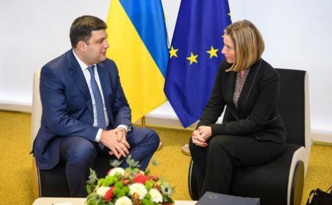 Євросоюз відзначає прогрес реформ в Україні та вітає економічне зміцнення, - Федеріка Могеріні на зустрічі з Володимиром Гройсманом