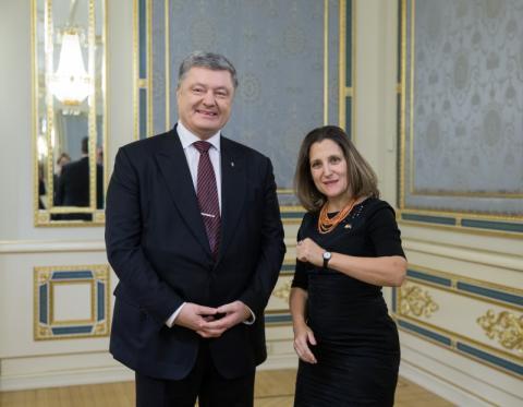 Президент України провів зустріч з Міністром закордонних справ Канади