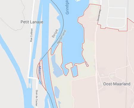 Бельгія й Нідерланди змінили державний кордон та обмінялися територіями
