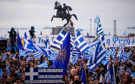 """Греки протестують проти використання """"Македонії"""" у назві сусідньої країни"""