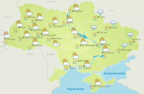Синоптики розповіли про погоду на Різдво: карта