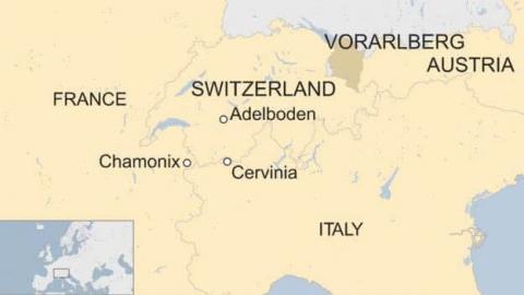 """Через снігопади на лижних курортах в Альпах """"застрягли"""" 10 тисяч туристів"""