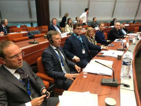 Перший заступник Голови Верховної Ради Ірина Геращенко разом з представниками Постійної делегації Верховної Ради України у Парламентській Асамблеї Ради Європи бере участь у сесії ПАРЄ у м. Страсбург