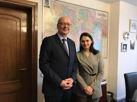 Голова Комітету у закордонних справ Ганна Гопко провела зустріч з Надзвичайним та Повноважним Послом Чеської Республіки в Україні Радеком Матула