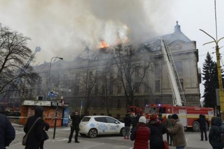 У словацькому Кошице горить будівля податкової інспекції