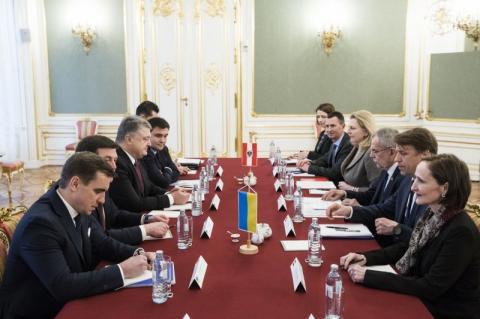 Президент: Австрія є одним знайбільших інвесторів у розвиток української економіки