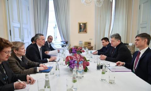 Президент України провів зустріч з Генеральним секретарем НАТО