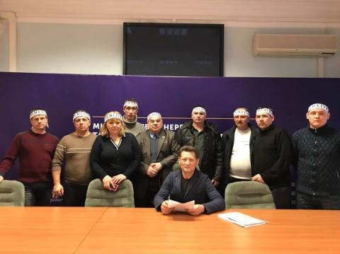 Шахтарі оголосили голодування у приміщенні Міненерго