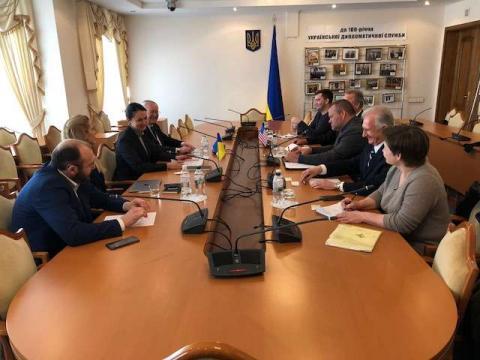 У Комітеті у закордонних справах відбулася зустріч народних депутатів з представниками Програми Державного Департаменту США з експертного контролю та безпеки кордонів (EXBS)
