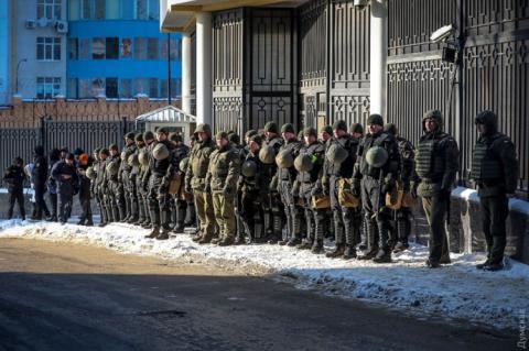 В Одесі облили фарбою консульство Росії
