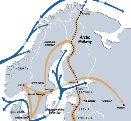 """Фінляндія планує торговельний """"Арктичний коридор"""" з Європи до Китаю"""