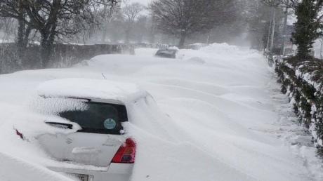 В Ірландії і Британії найсильніші снігопади за останні 30 років